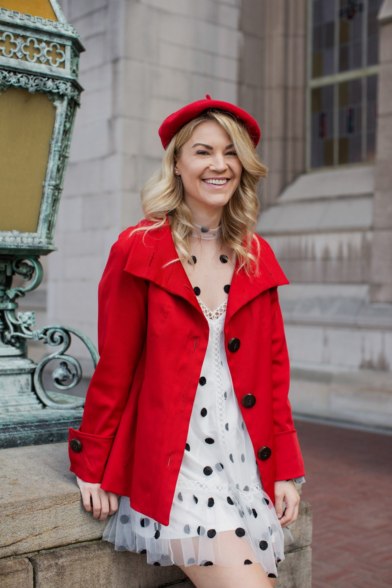 Parisian Polka Dot Dress