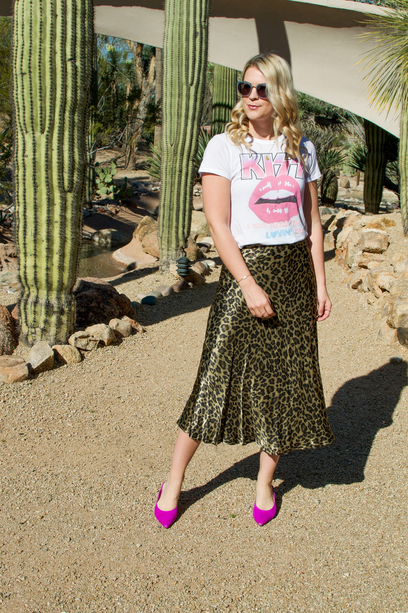 5a4f5ca93 Leopard Skirt & Pink Mules - Whit Wanders