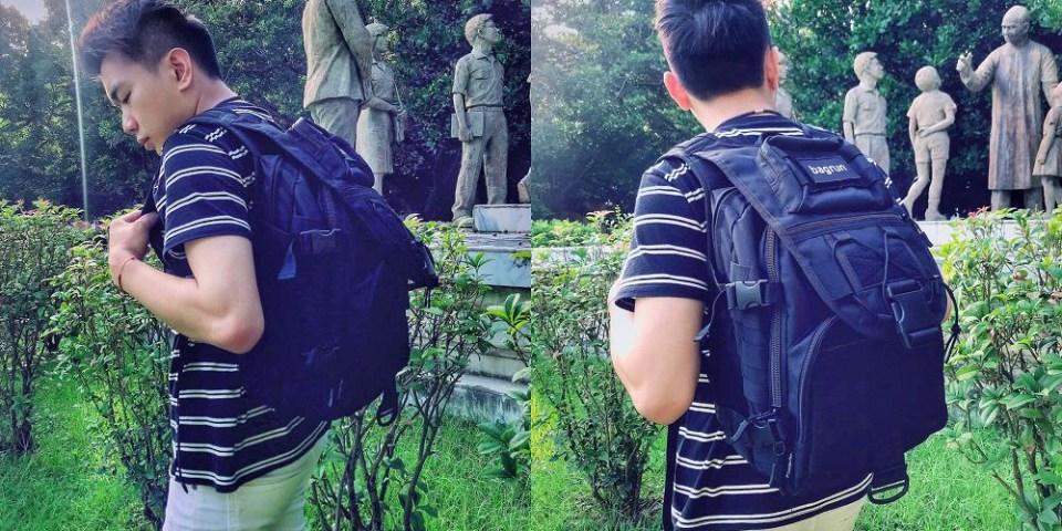 還在煩惱出門包包太小嗎?【bagrun 賽博龐克軍事風格後背包】讓你一次擁有大容量 功能俱全的帥氣後背包 一包通通搞定! 開箱文|軍用後背包