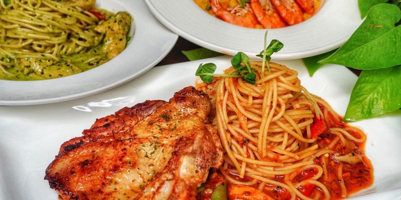 高雄美食【好手義料理廚坊】鄰近巨蛋捷運站|超過20種餐點選擇160元起!cp值高的義式料理