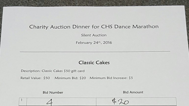 Charity Auction Dinner