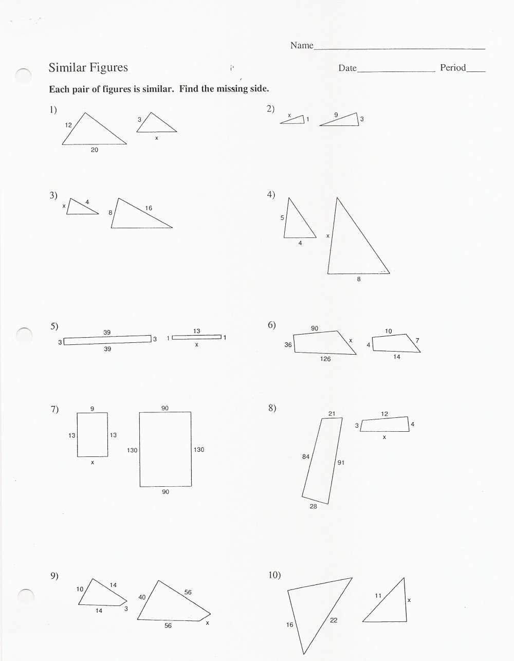 medium resolution of Similar Figures And Proportions Worksheet With Answers -  Promotiontablecovers