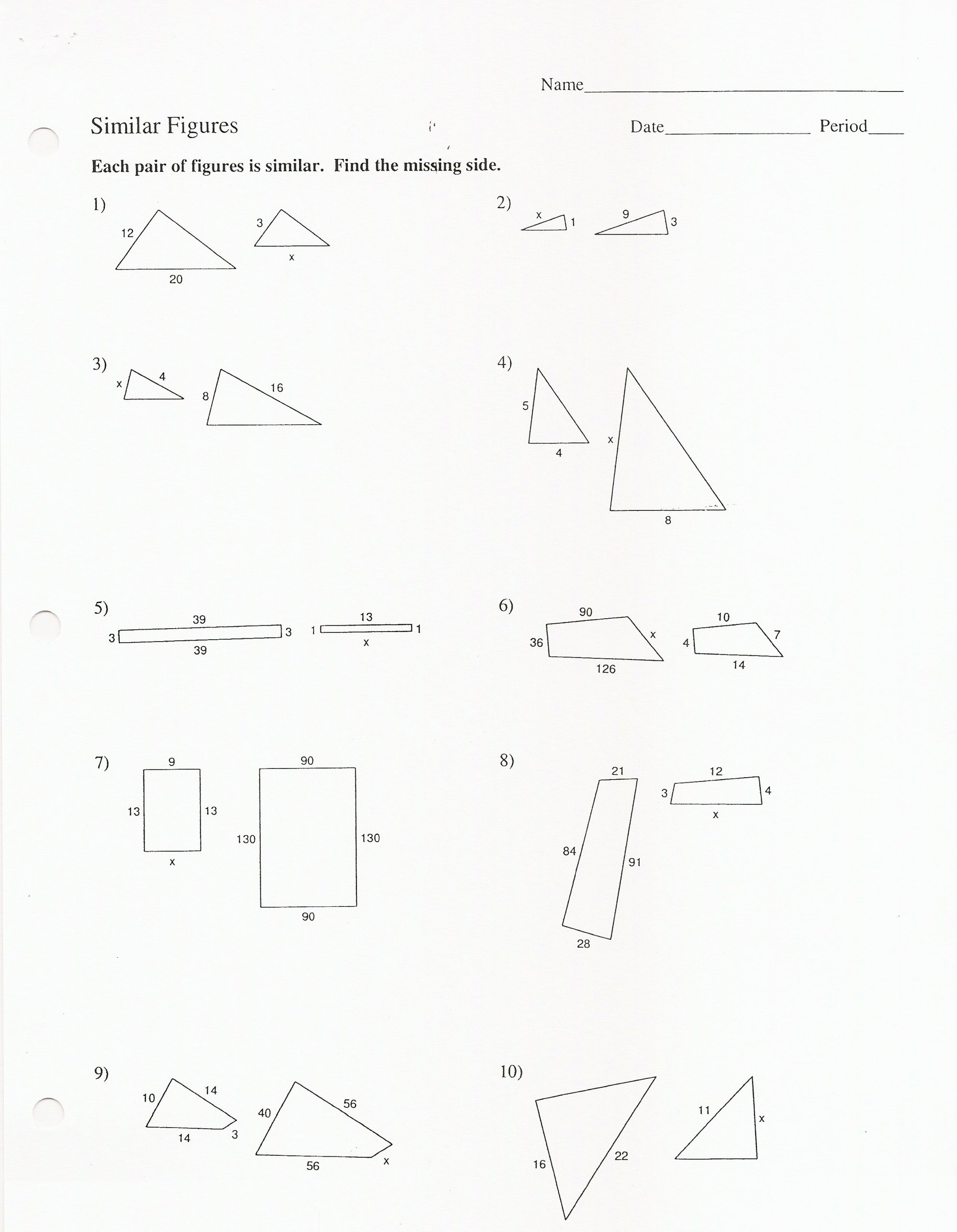 hight resolution of Similar Figures And Proportions Worksheet With Answers -  Promotiontablecovers