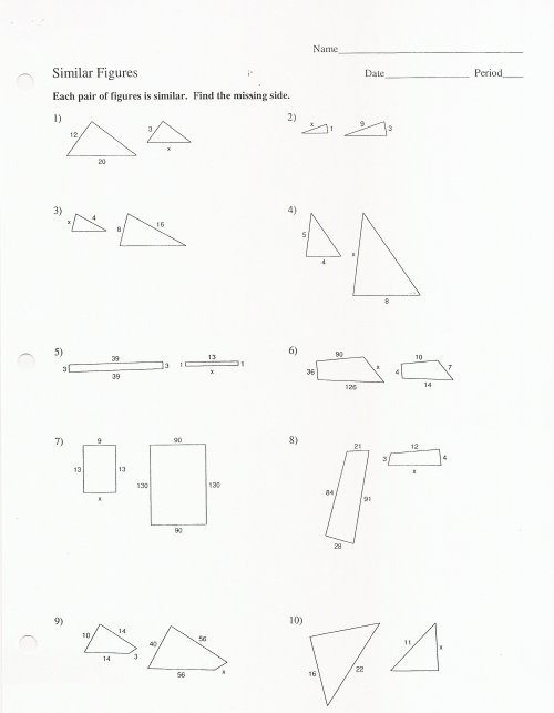 small resolution of Similar Figures And Proportions Worksheet With Answers -  Promotiontablecovers