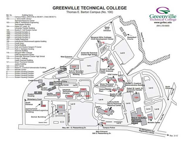 Greenville Tech Map Campus
