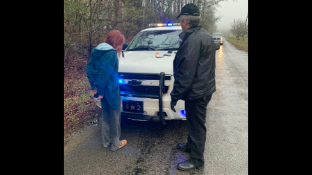 1 person was taken into custody Tuesday morning after a chase in Morgan County.