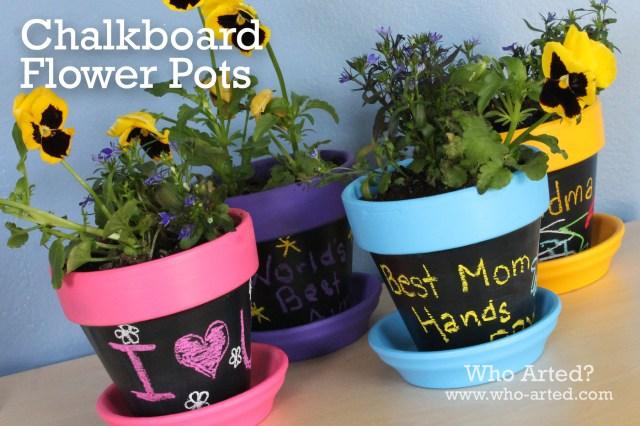 Chalkboard Flower Pots 00