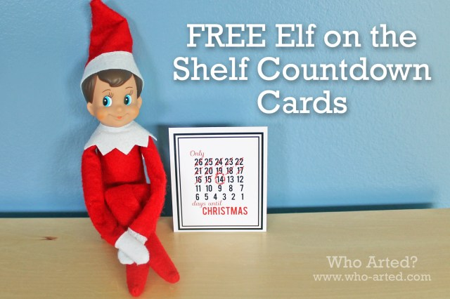 Elf on the Shelf Countdown Cards 01