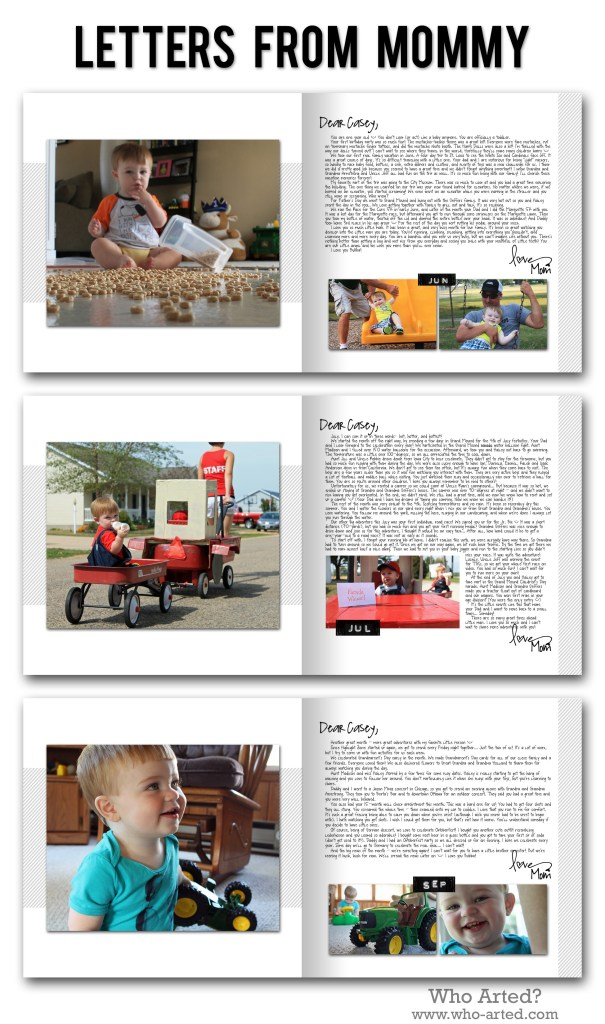 Yearly Photo Book, C1 Letters From Mommy