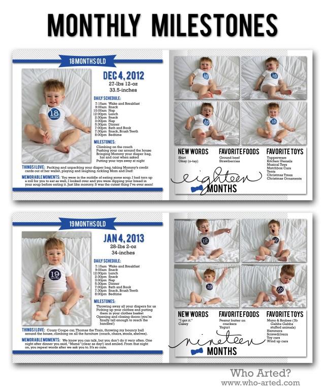 Yearly Photo Book, C1 Monthly Milestones