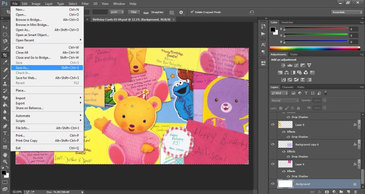 How to Scan Cards into Scrapbook Who Arted 19