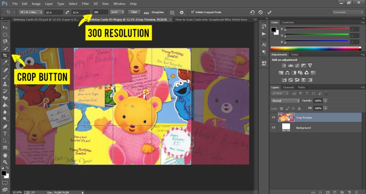 How to Scan Cards into Scrapbook Who Arted 24