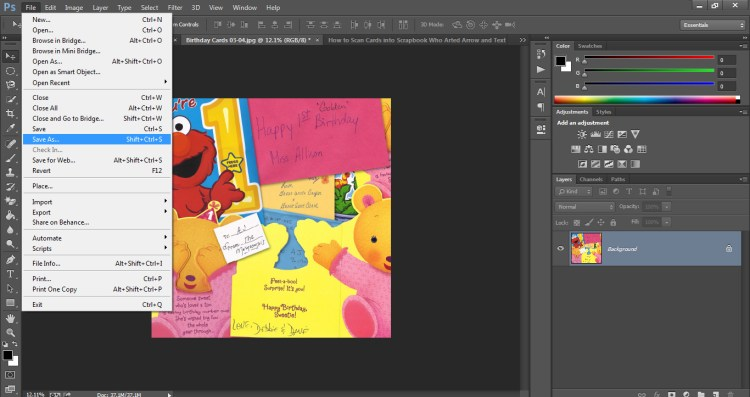 How to Scan Cards into Scrapbook Who Arted 27