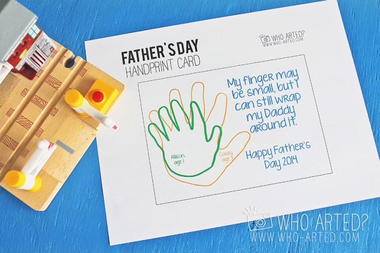Father's Day Handprint Card Who Arted 02