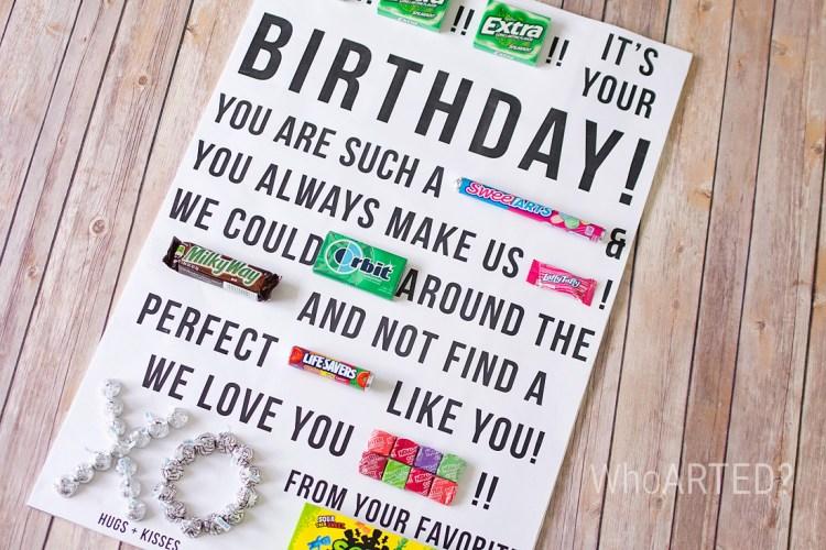 Candy Gram Birthday Card 2 04