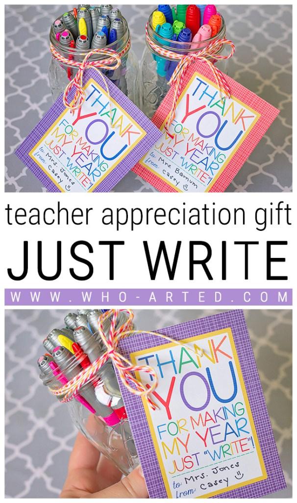 Teacher Appreciation Just Write - Pinterest 01