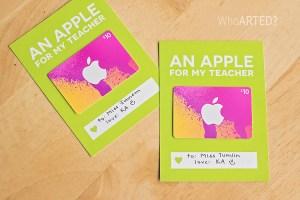 Teacher Appreciation Week Apple Gift Card