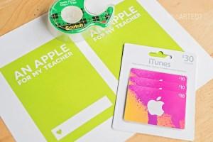 Teacher Appreciation Apple Gift Card