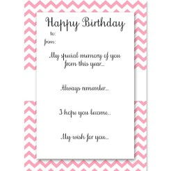 Birthday Memory Cards Light Pink Who Arted Thumbnail