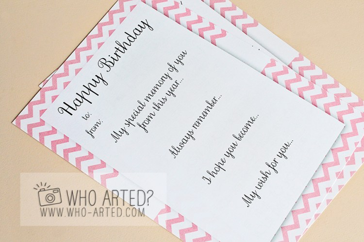 Birthday Memory Cards Template Who Arted 03