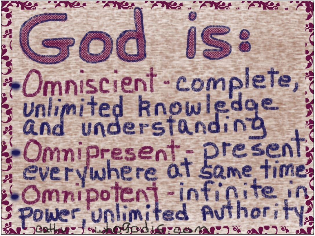 Define omnipotent omnipresent and omniscient