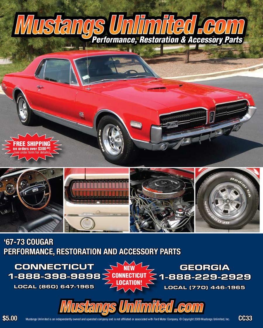 1973 Mercury Cougar : mercury, cougar, 1967-1973, Mercury, Cougar, Catalog, Mustangs, Unlimited