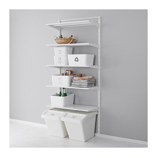 I love these simple Ikea boxes for organizing cleaning supplies inside our closets. (photo from ikea.com)
