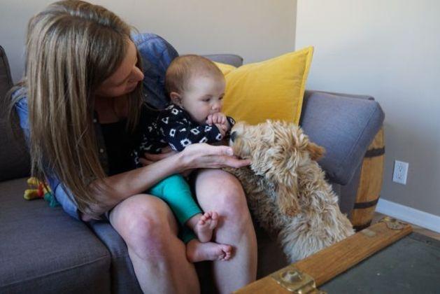 Meeting baby Sophia