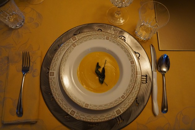 First course: Butternut squash sage soup