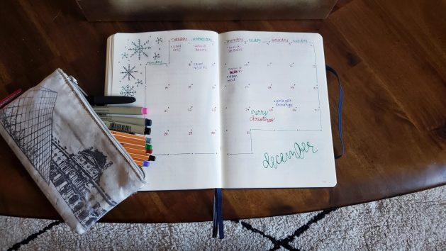 Monthly Bullet Journal Layout
