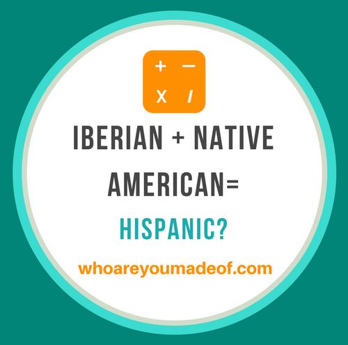 is Iberian plus native american hispanic_