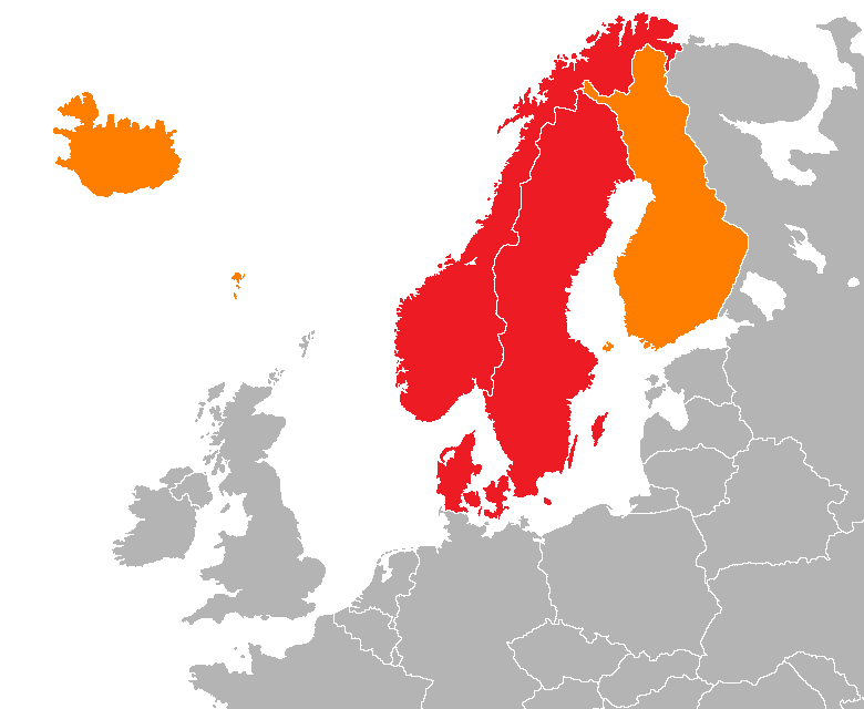 Where is the Scandinavia DNA ethnicity located?