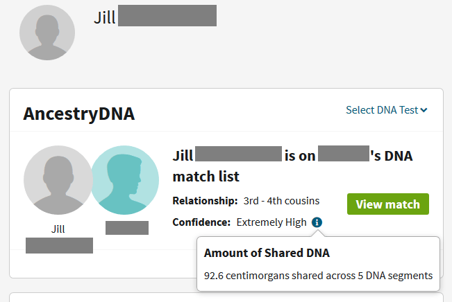 How it can be possible for a match to share less DNA with one sibling than they do with another