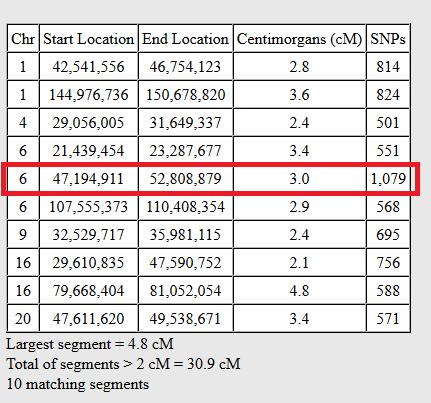 legitimate tiny dna segment example