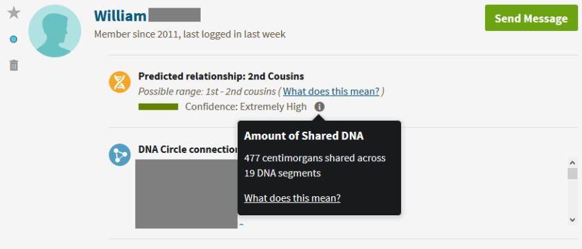 How does a great great uncle show up on Ancestry