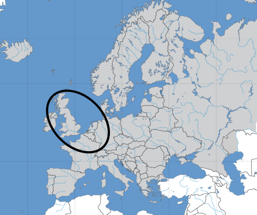 Map Of England Europe.What Is The England Wales And Northwestern Europe Dna Ethnicity On