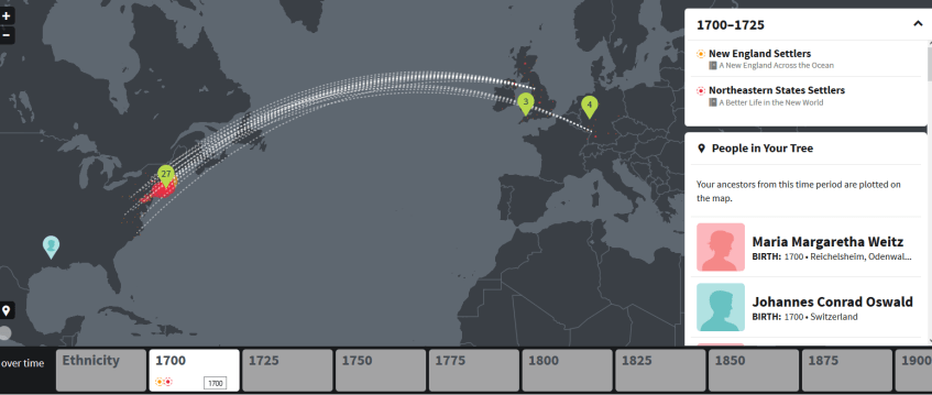 explore DNA story timeline on ancestry dna