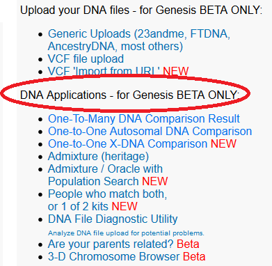 How to access the gedmatch genesis dna tools