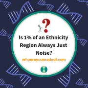 Is 1% of an Ethnicity Region Always Just Noise?