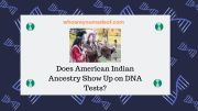 Does American Indian Ancestry Show Up on DNA Tests?