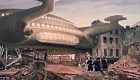 WhoBackWhen Peter Cushing Doctor Who Daleks Invasion Earth 2150AD Spaceship Matte Painting