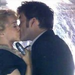 Kylie Minogue kisses David Tennant in the 2007 Doctor Who Christmas Special Voyage of the Damned