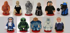 The villains chess pieces for custom Doctor Who chess set.