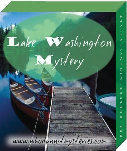 Lake Washington mystery game Fourth of July party.