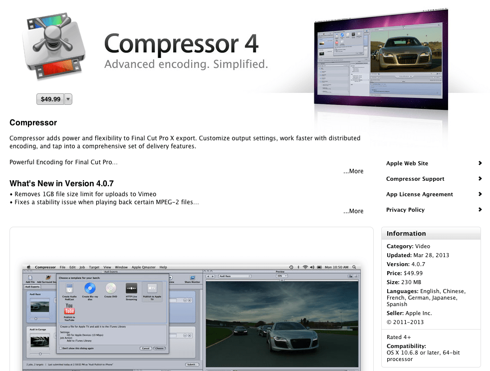 Apple Makes Bad Things: Mac App Compressor 4