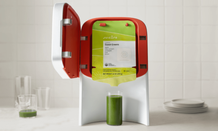Juicero, the overpriced juicer $350 > $699 >$399 + $$$