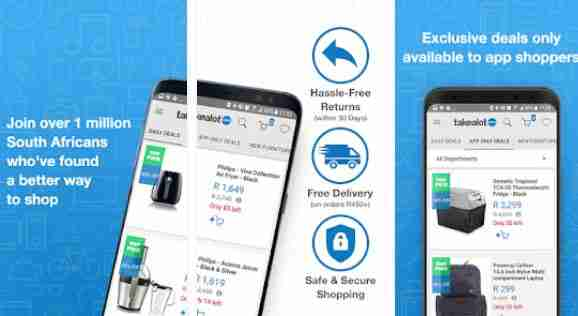 Takealot APP : Windows , Blackberry , Discount , Free Delivery , South Africa