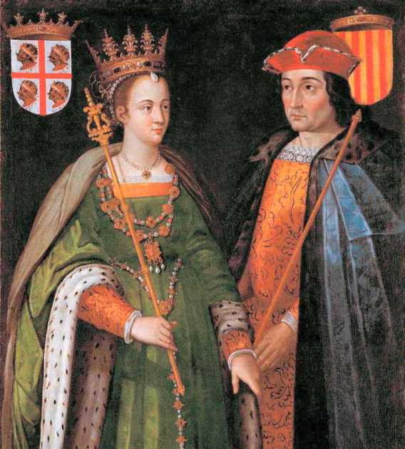 西元1150年,亞拉岡女王佩德羅尼拉(Petronilla of Aragon)與巴塞隆納伯爵拉蒙貝倫格爾四世 (Ramon Berenguer IV)的世紀聯姻,促成了亞拉岡聯合王國的誕生。巴塞隆納伯爵身後的國旗後來也出現在現代加泰隆尼亞獨立旗上,為Generalitat de Catalunya。