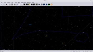 Kstars software, showing Pisces, Venus and Mars