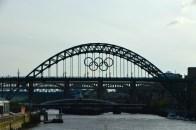 Tyne Bridge with Olympic Badge Sillhouette